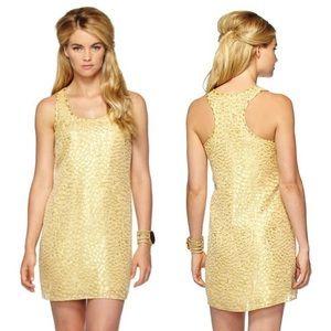 Lilly Pulitzer Betty Dress in Metallic Gold XXS